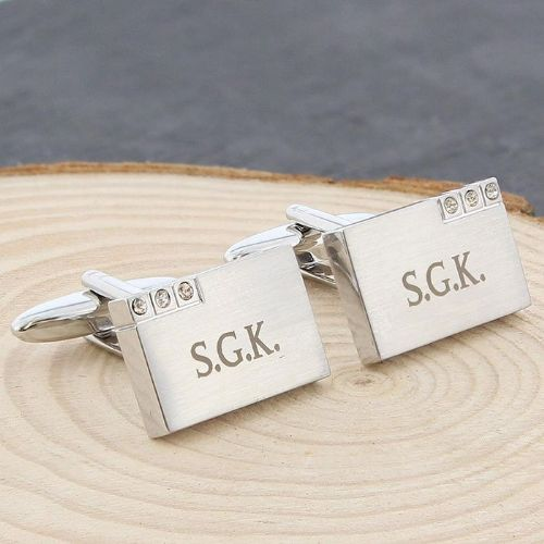Personalised Diamante Cufflinks